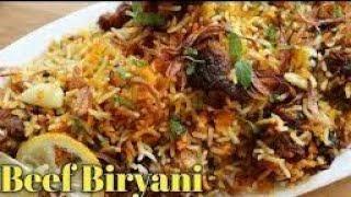 Spicy beef briyani recipe restaurant style tasty recipe vlog
