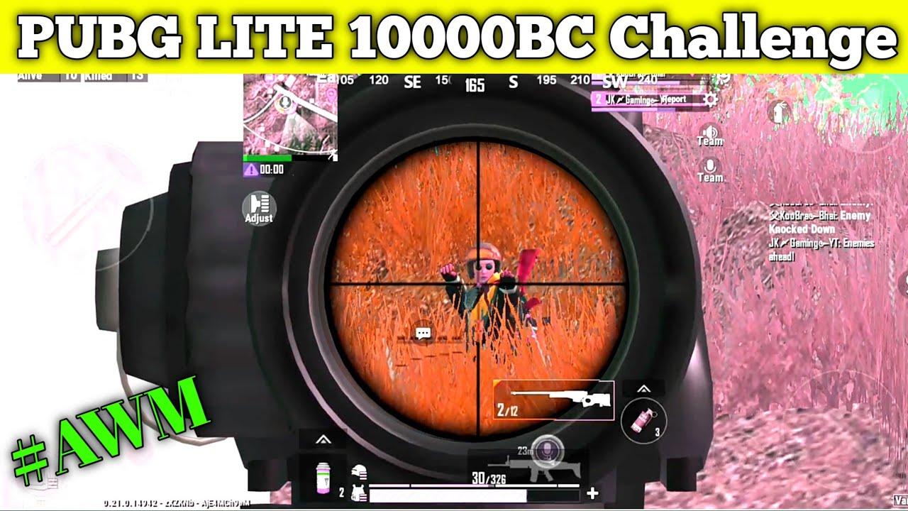 10000BC CHALLENGE IN PUBG LITE | Pubg Lite Double AWM Funny challenge | Pubg Lite Free BC challenge