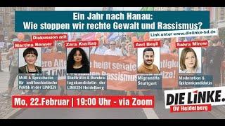 Ein Jahr Nach Hanau: Wie Stoppen Wir Rechte Gewalt Und Rassismus? Mit Sahra Mirow Und Martina Renner