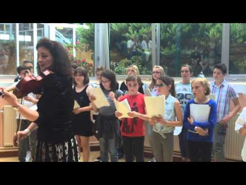 Edith Piaf choral collège Cysoing