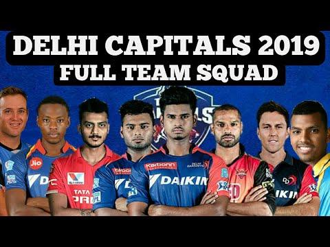 DELHI CAPITALS IPL 2019 FULL TEAM SQUAD | DELHI DAREDEVILS 2019 SQUAD |RISABH PANT