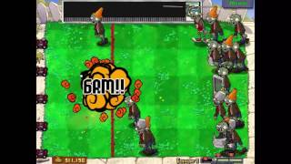 Растения против Зомби. Мини-игра 18: Боулинг 2. Играем вместе.