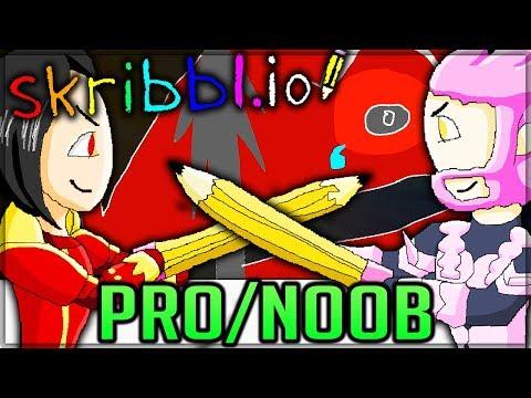 MONSTROUS BATTLE - Pro and Noob VS Skribble.io! (Special Edition - Funny Moments) #skribbleio