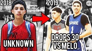 He Went From Unknown Hooper To Dropping 30 VS LAMELO BALL Playing On Julian Newman Team!