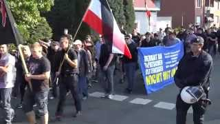 Naziaufmarsch in Hamm am 03.10.2014 (kurze Version)