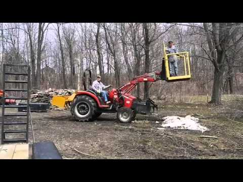 Tractor Platform for Trimming Trees