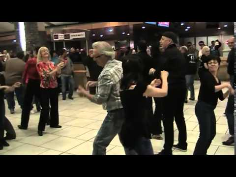Calgary International Flashmob West Coast Swing 2015 At Calgary International Airport (YYC)