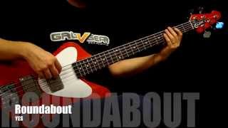 How to play YES Roundabout bass riff by Chris Squire (with tabs)