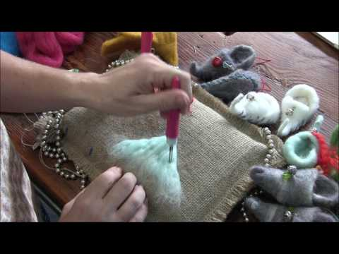 How to Needle Felt Elf Shoe Ornaments by Sarafina Fiber Art