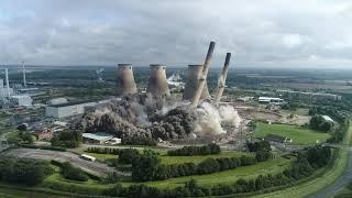 Ferrybridge 'C' Power Station Blowdown 2021
