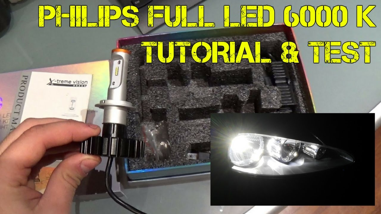 Luce Led H4 Philips Full Led H7 6000k Come Vanno E Come Montarle Test Tutorial