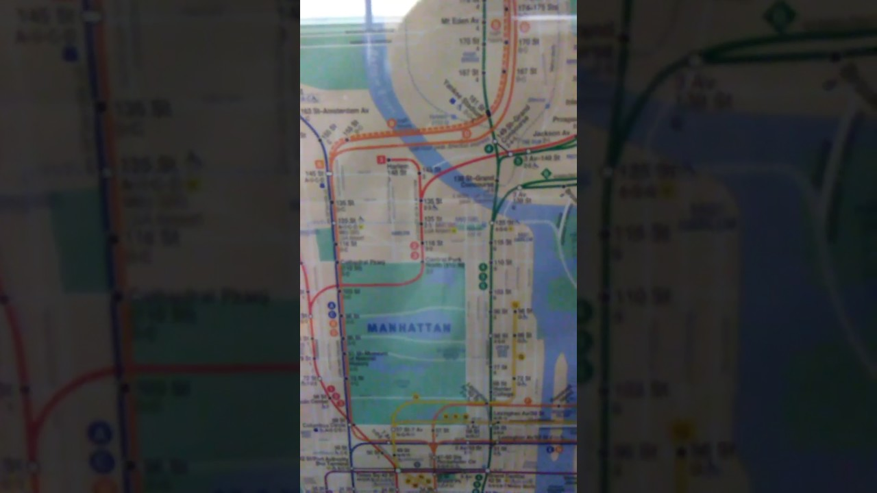 Q Second Avenue Subway Map.Second Ave Subway Q Train On New Map On Wall In The Grand Central Shuttle