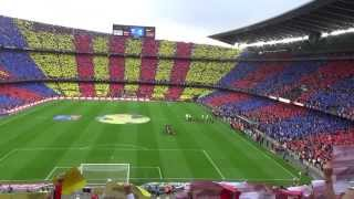 FC Barcelona Anthem At Camp Nou Before El Clasico Match 26/10/2013 HD