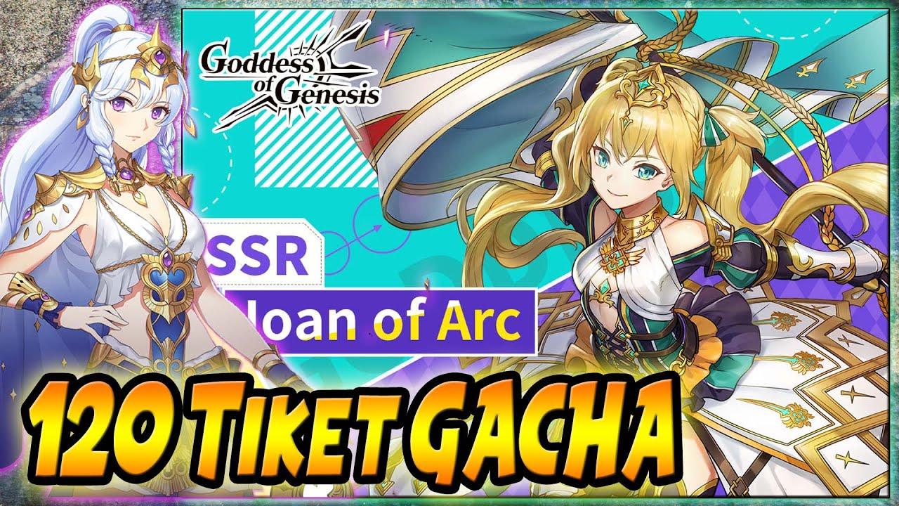 GACHA 120 TICKET Cari JOAN OF ARC & ARTEMIS - Goddess Of Genesis (Android Game)