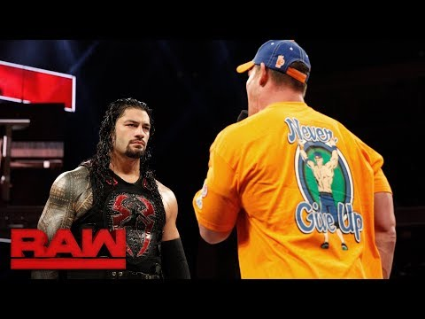 Cena and Reigns shoot from the hip in heated verbal exchange: Raw, Aug. 28, 2017