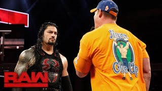 Cena and Reigns shoot from the hip in heated verbal exchange: Raw, Aug. 28, 2017 thumbnail