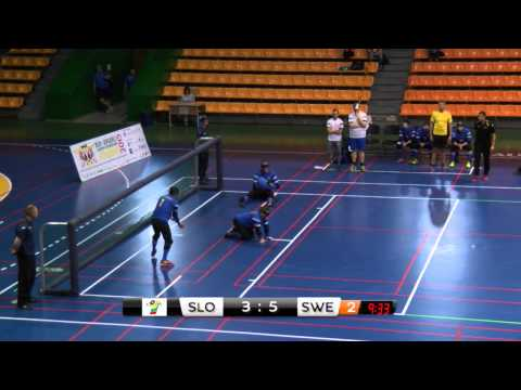Slovenia Sweden Men 24 game 2015 IBSA Goalball European Championships Lithuania