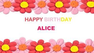 Alice   Birthday Postcards & Postales - Happy Birthday