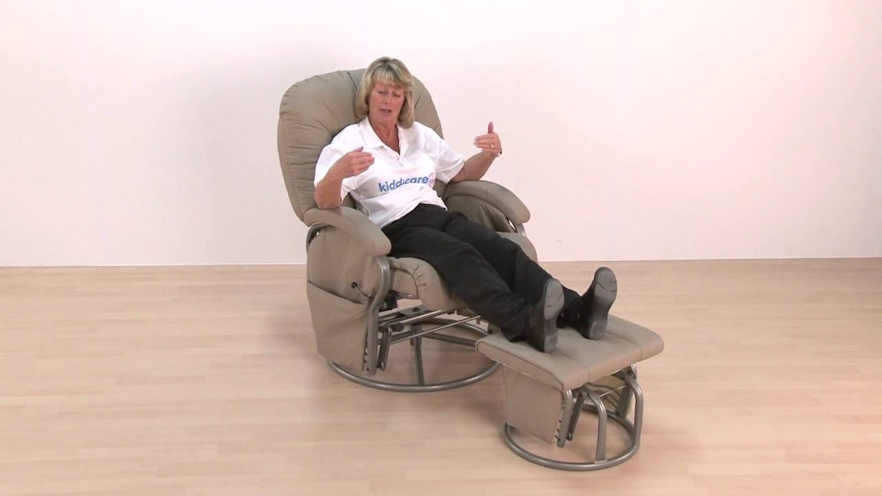 Baby Weavers Deluxe Glider Chair And Stool Youtube