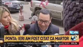 Victor Ponta, audiat la Parchetul General