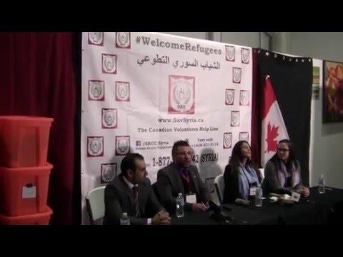Syrian Volunteers Press Conference #Welcomerefugees SAV Syria #mississauga