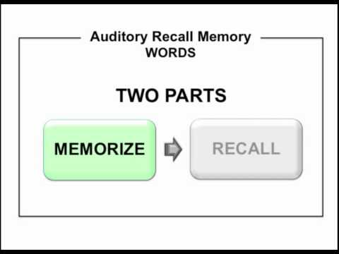 Rc21x Instructions Auditory Recall Memory Part 1