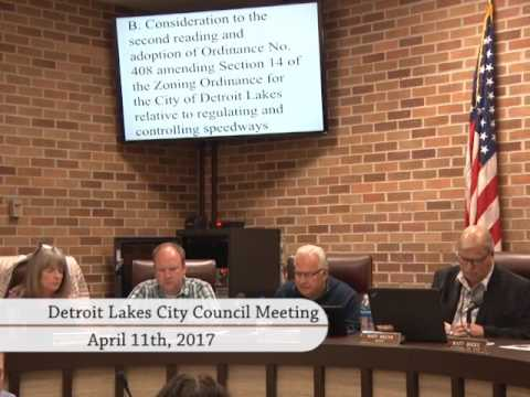 City of Detroit Lakes April 2017 Council Meeting