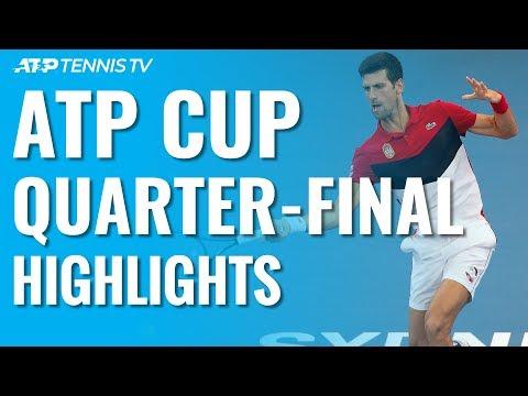 Djokovic & Serbia, Nadal & Spain Reach Semi-Finals!   ATP Cup 2020 Quarter-Final Highlights