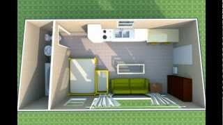 $2,000 Tiny Home Design 12 X 24 - Mortgage Free, Survive The Collapse!!