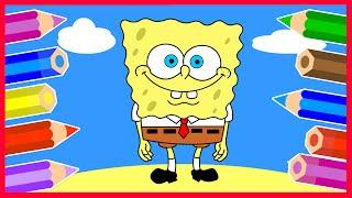 Рисуем Губку Боба Квадратные Штаны. SpongeBob SquarePants.(Учимся рисовать Губку Боба Квадратные Штаны. Возьми карандаши и включай наш видео урок. Линию за линией..., 2016-05-16T05:22:25.000Z)