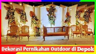 Download Dekorasi pernikahan outdoor untuk acara di malam hari