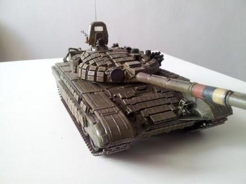 Сборка советского основного боевого танка Т-72Б - Звезда 3550. Финальный фотоотчёт