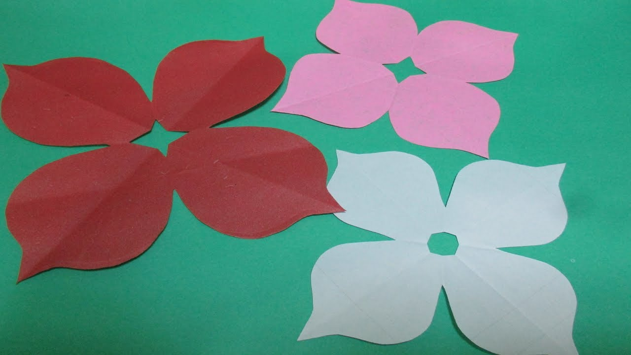 How to make simple easy paper cutting flower designs 2 for How to make a paper design