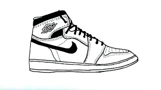How to Draw an Air Jordan Shoe