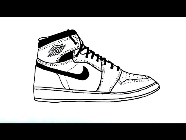 reputable site 4fc74 73212 How to Draw an Air Jordan Shoe - YouTube