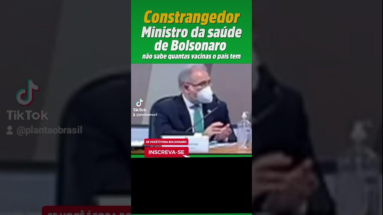 Ministro confessa que não sabe quantas vacinas o Brasil tem #shorts