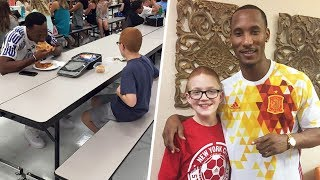 Her Son Ate Alone At School Each Day. Then When A Football Star Sat Next To Him, Mom Was In Tears