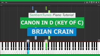 "Brian Crain - ""Piano Lessons"" CANON IN D -  PianoTutorial HD"