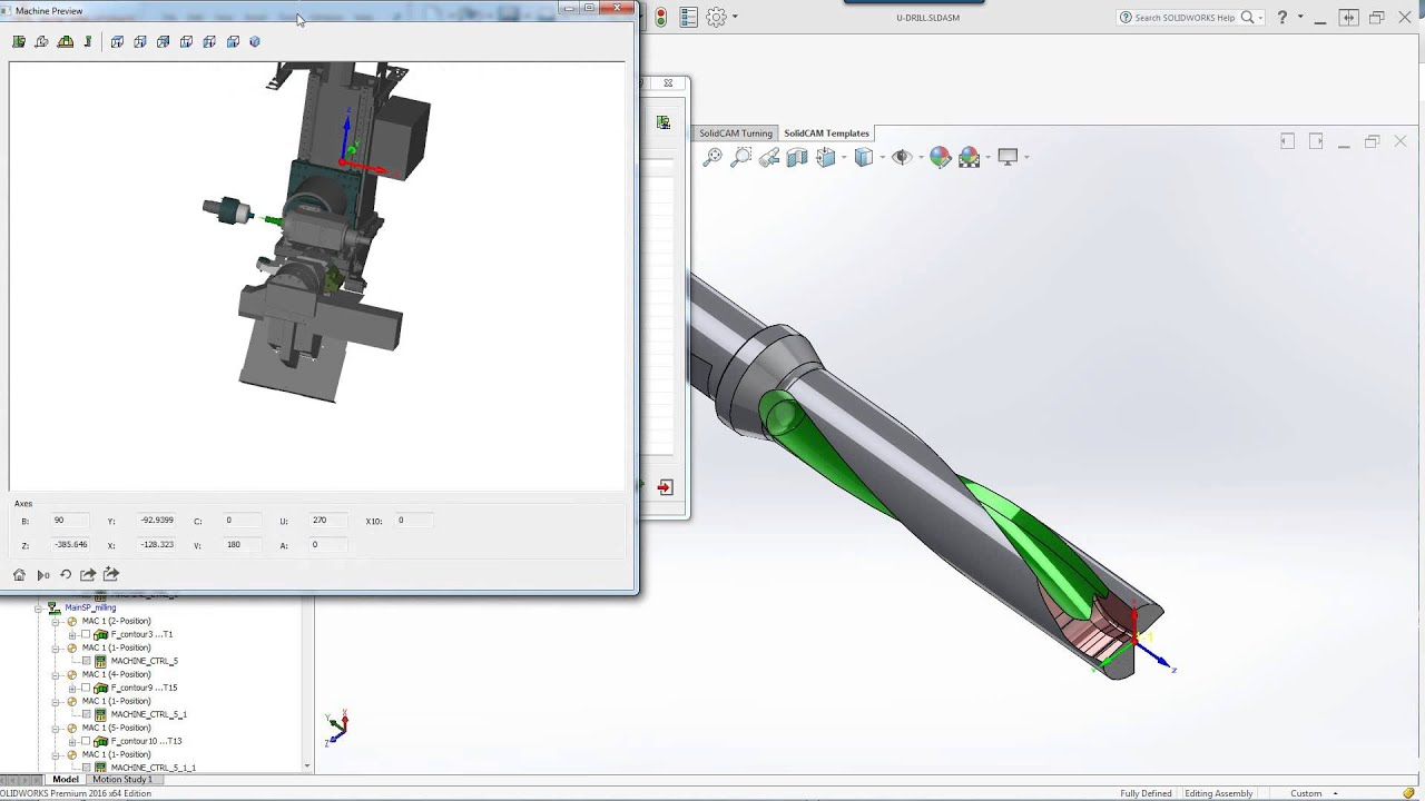 what s new in solidcam 2016 machine preview youtube