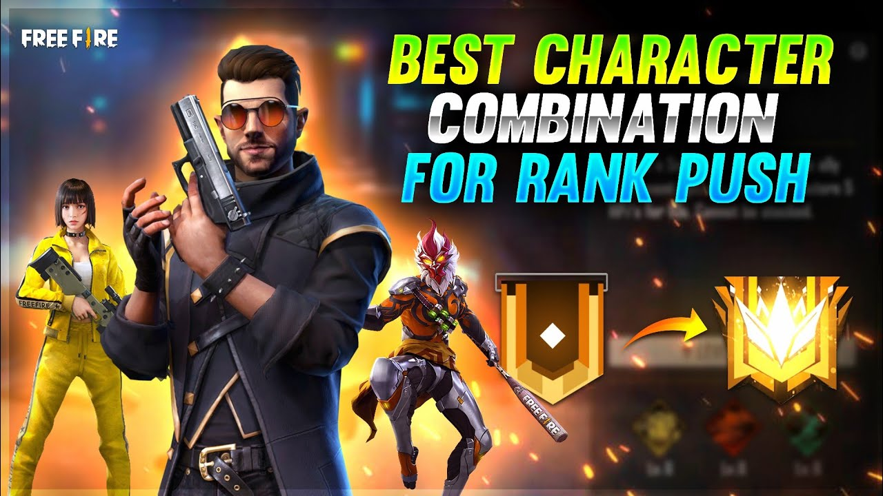 Best Character Combination For Rank Push || Free Fire Tamil