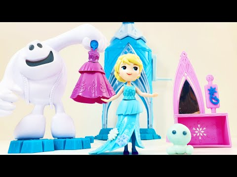 Распаковка игрушек от Disney Frozen: принцесса Эльза Elsa и замок Холодное Сердце