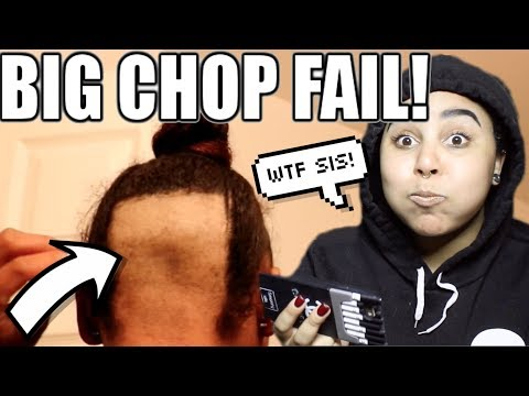 NATURAL GIRL REACTS TO NATURAL HAIR FAIL #7: BIG CHOP GONE BAD!