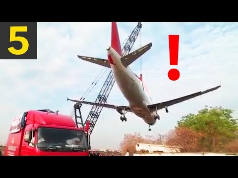 Top 5 Ridiculously HEAVY Crane Lifts (gone wrong)