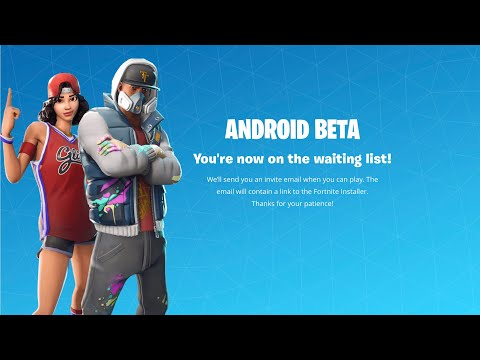 FORTNITE ANDROID BETA SIGN UP NOW LIVE!