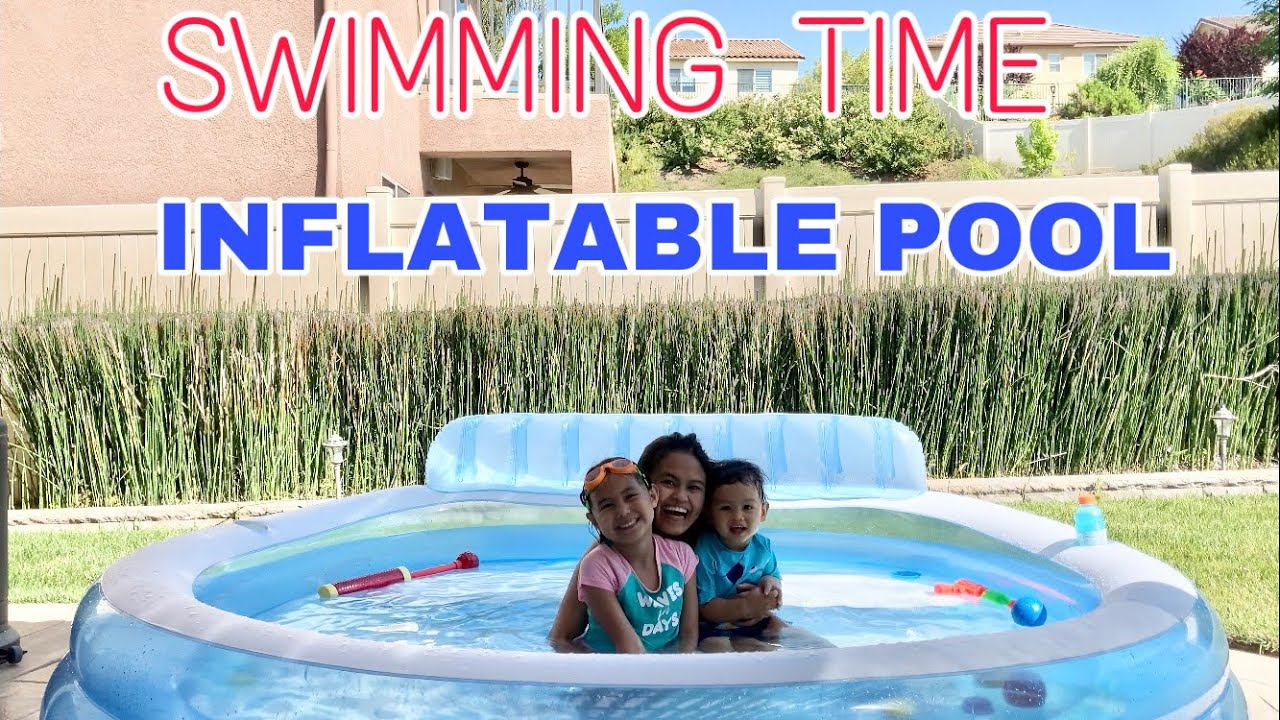 SWIMMING IN OUR INFLATABLE POOL l Simplygrace Vlog