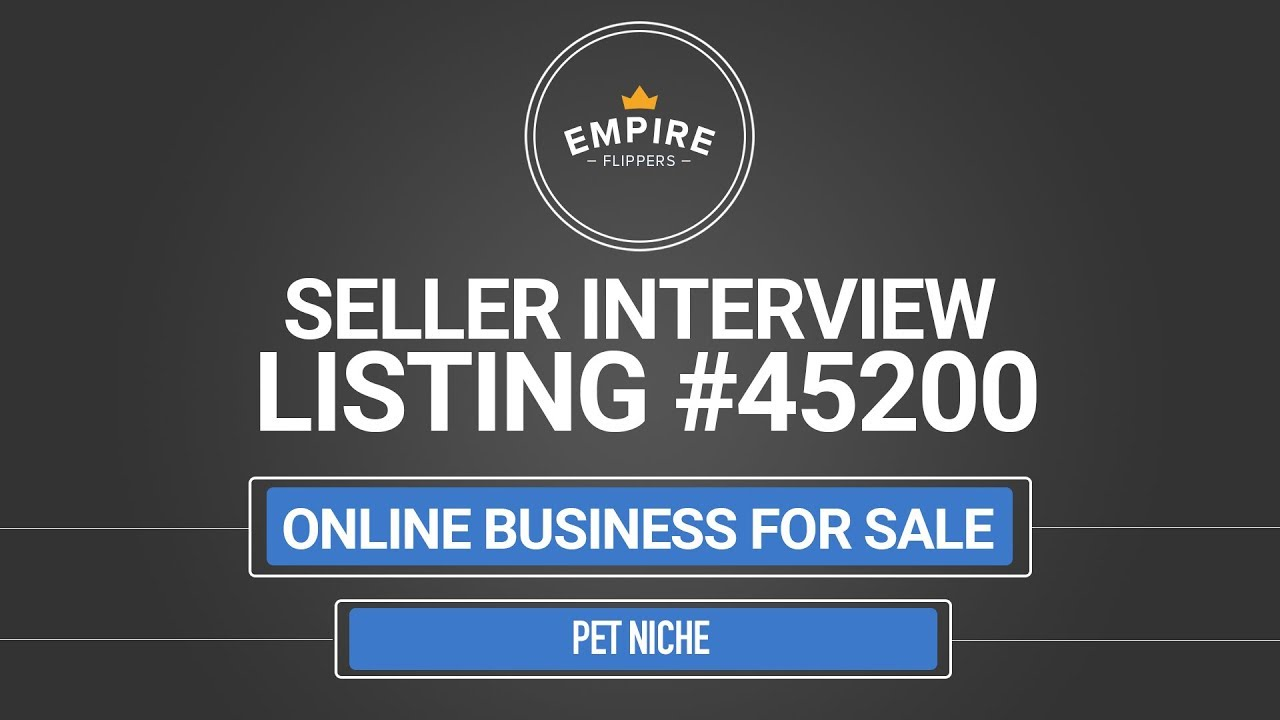 Online Business For Sale - $11.4K/month in the Pet Niche - YouTube