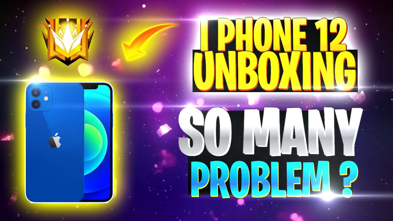 My 1st i phone 12 Unboxing 🔥🔥 | So many restrictions for editing 😞😞 | I phone 12 free fire gameplay