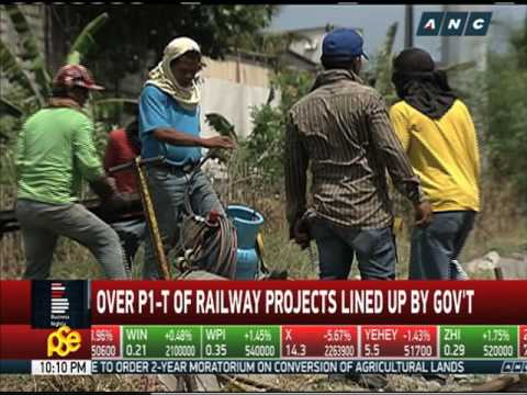P1 trillion railway projects lined up by gov't
