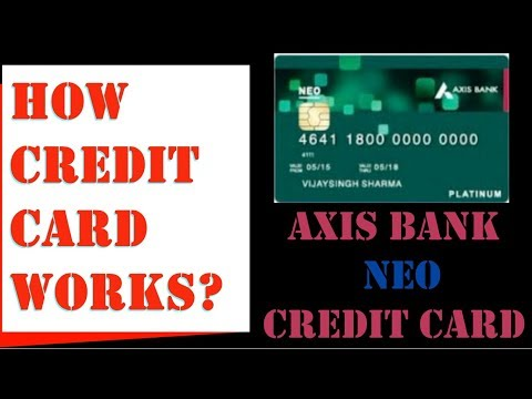 How Credit Cards Works  Easy Explanation With Axis Bank Neo Credit Card