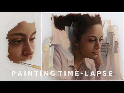 """OIL PAINTING TIME-LAPSE 